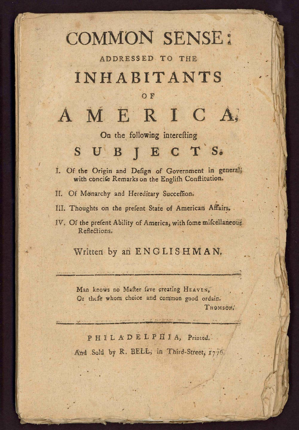 thomas paine common sense essay iplan african slavery in america  thomas paine john s consciousness perhaps the most famous pamphlet in american history was the one