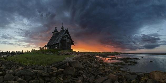 dream house on shoreline